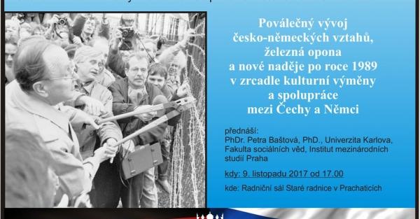 Poválečný vývoj česko-německých vztahů. Železná opona a nové naděje po roce 1989 v zrcadle kulturní výměny a spolupráce mezi Čechy a Němci