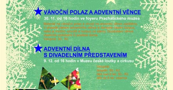 Tvůrčí dílna - adventní věnce a vánoční polaz