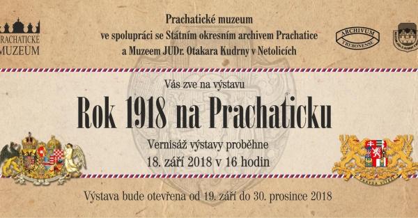 Rok 1918 na Prachaticku